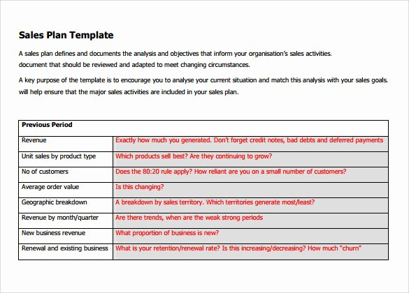 Sales Territory Planning Template Unique Sample Sales Plan Template 17 Free Documents In Pdf