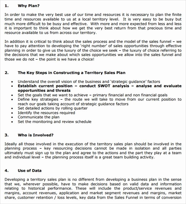 Sales Territory Planning Template Unique Sample Territory Plan Template 8 Free Documents In Pdf