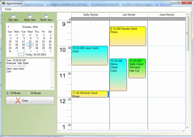 Salon Appointment Book Template Beautiful Freeware Download Salon Appointment Book Template