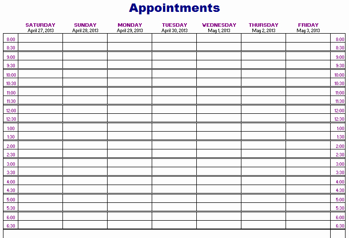Salon Appointment Book Template Best Of Importance Of Appointment Schedule Small Business