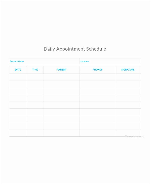 Salon Appointment Book Template Fresh 21 Appointment Schedule Templates Doc Pdf