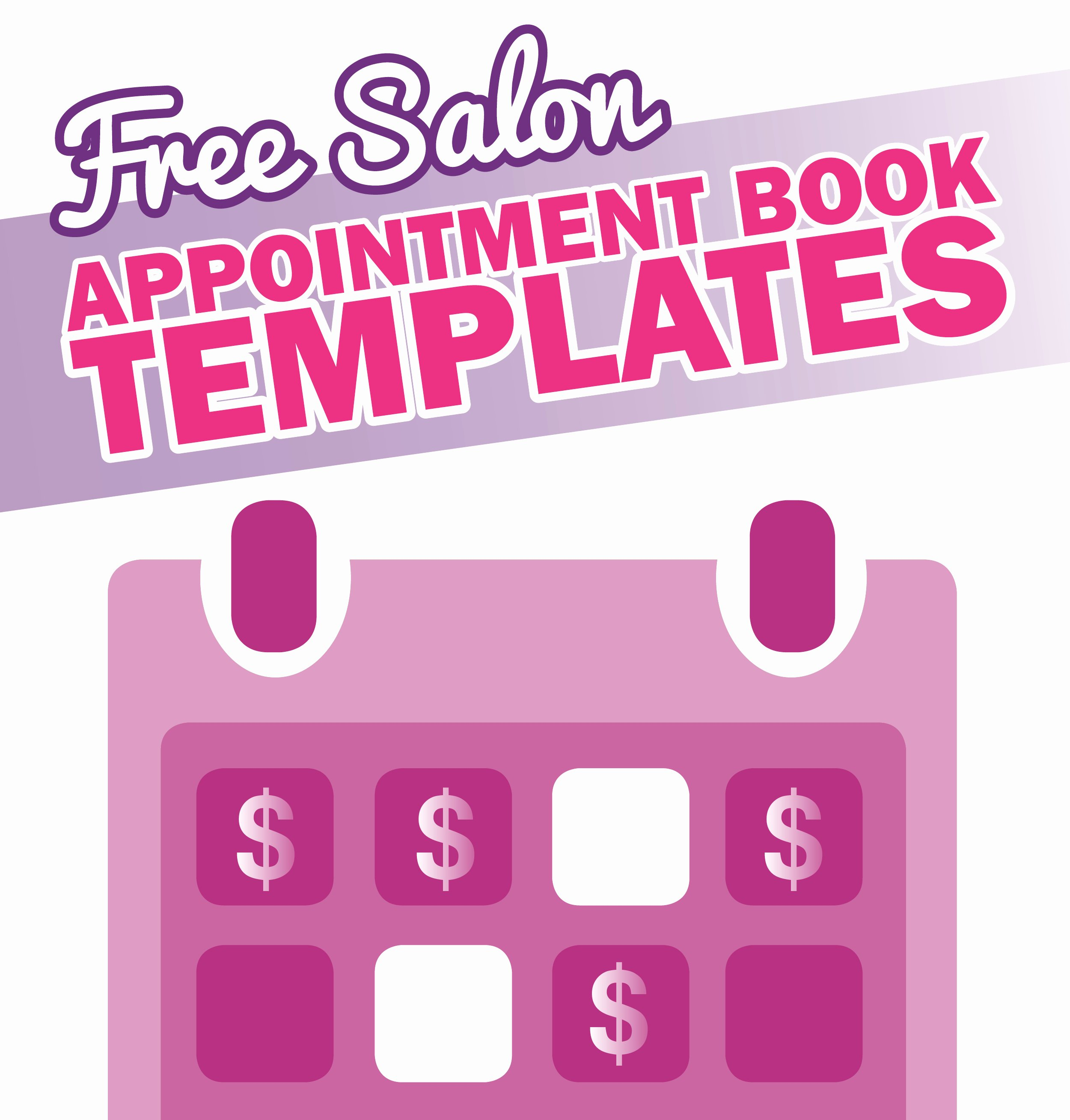 Salon Appointment Book Template Luxury Free Salon Appointment Book Template Worldwide Salon