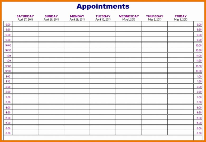 Salon Appointment Book Template Luxury Hair Salon Appointment Book Template Free Printable