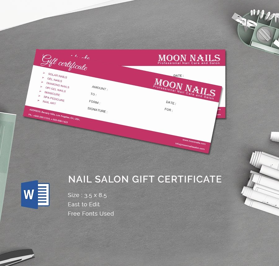Salon Gift Certificate Template Awesome 15 Certificate Templates