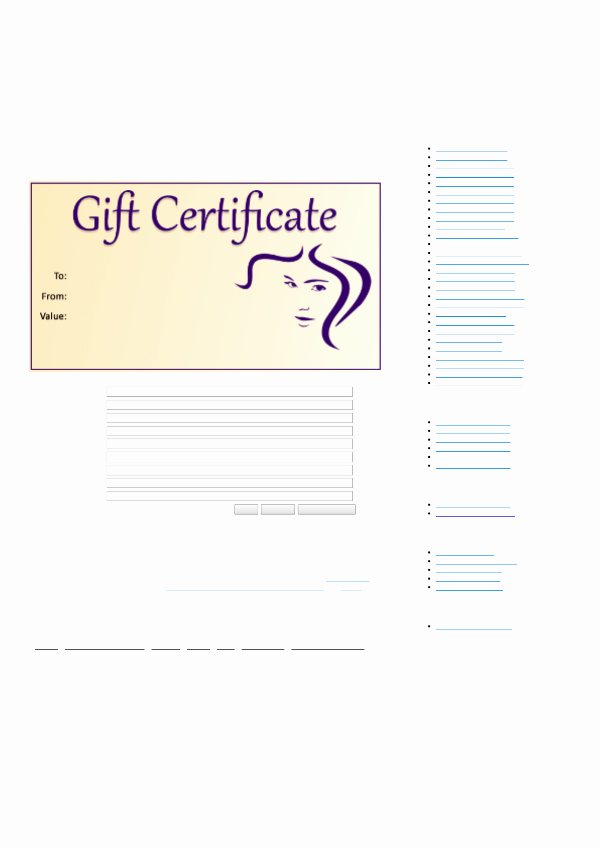 Salon Gift Certificate Template Awesome Download Hair Salon Gift Certificate Template for Free