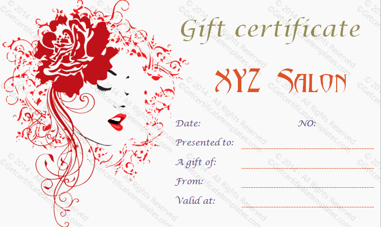Salon Gift Certificate Template Best Of Artistic Salon Gift Certificate Template