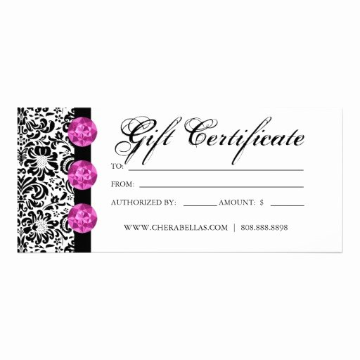 Salon Gift Certificate Template Best Of Blank Gift Certificates