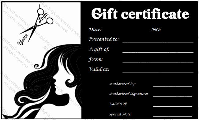 Salon Gift Certificate Template Elegant Gift Voucher Templates Gift Certificate Templates