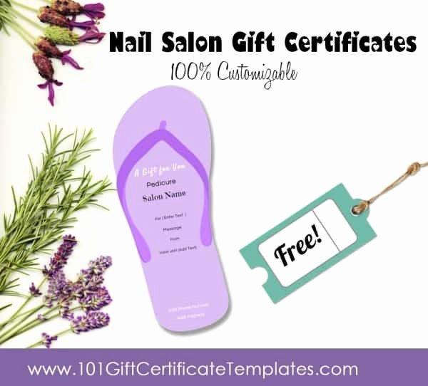 Salon Gift Certificate Template Elegant Nail Salon Gift Certificates
