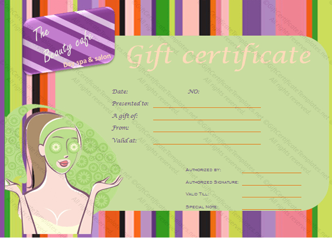 Salon Gift Certificate Template Fresh Gift Certificate Templates