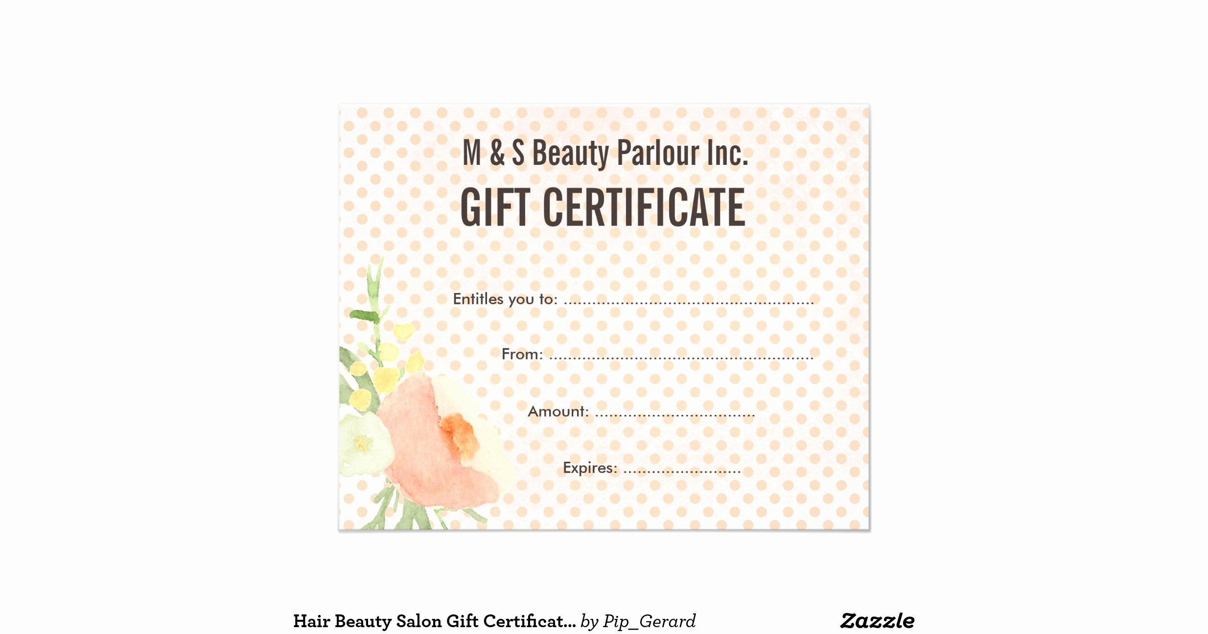Salon Gift Certificate Template Lovely Hair Beauty Salon T Certificate Template Flyer