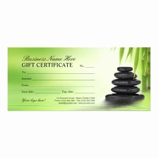 Salon Gift Certificate Template New 27 Best Spa Massage & Beauty Salon Gift Certificates
