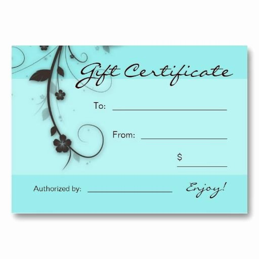 Salon Gift Certificate Template Unique 1000 Ideas About Gift Certificates On Pinterest