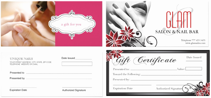 Salon Gift Certificate Template Unique Gift Certificate Template for Nail Salon – Gift Ftempo