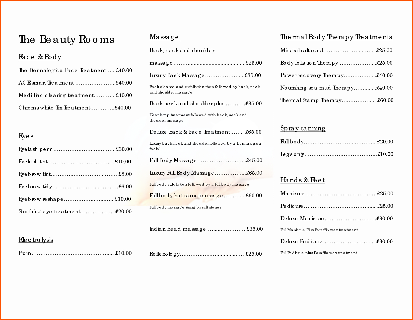 Salon Price List Template Inspirational 10 Salon Price List Template