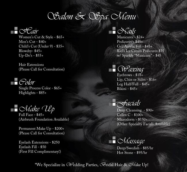 Salon Price List Template Lovely Salon Pricing On Pinterest
