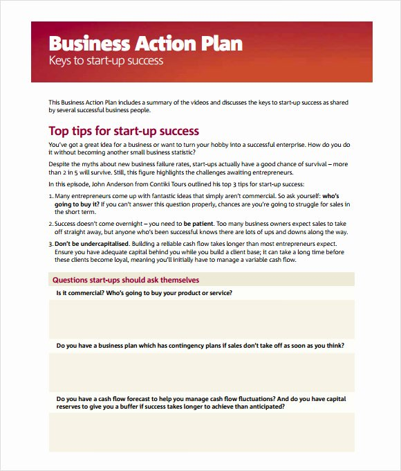 Sample Action Plan Template Best Of Business Action Plan Template 5 Download Free Documents