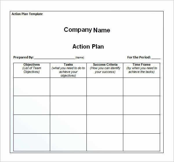 Sample Action Plan Template Fresh 12 Action Plan Templates