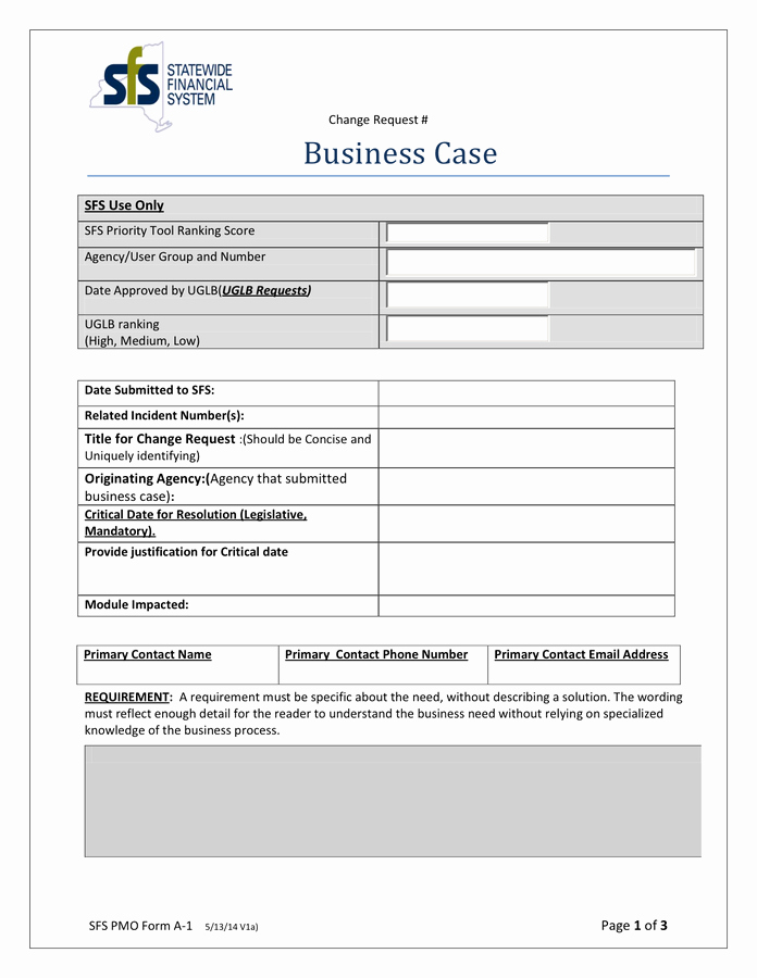 Sample Business Case Template Awesome Business Case Template