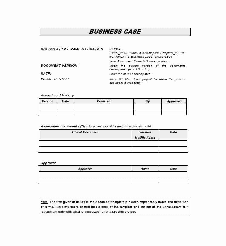 Sample Business Case Template Elegant 30 Simple Business Case Templates & Examples Template Lab