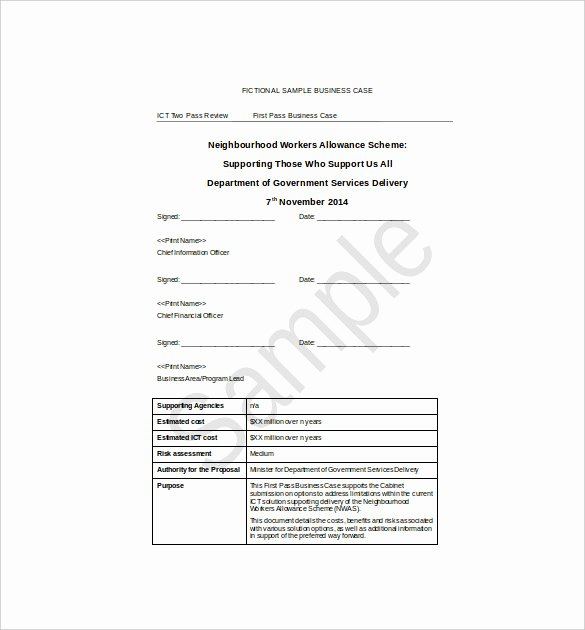 Sample Business Case Template Inspirational 13 Business Case Templates Pdf Doc