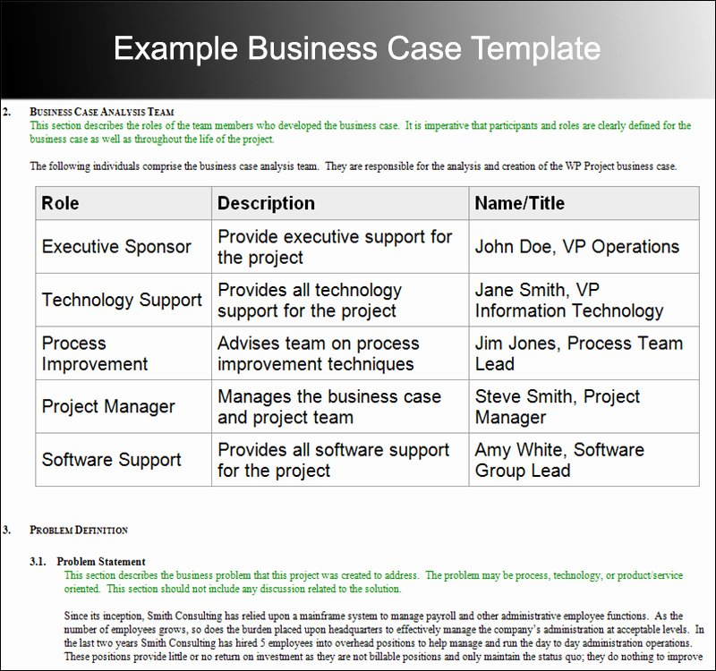 Sample Business Case Template Lovely 8 Business Case Template Free Word Pdf Excel Doc formats
