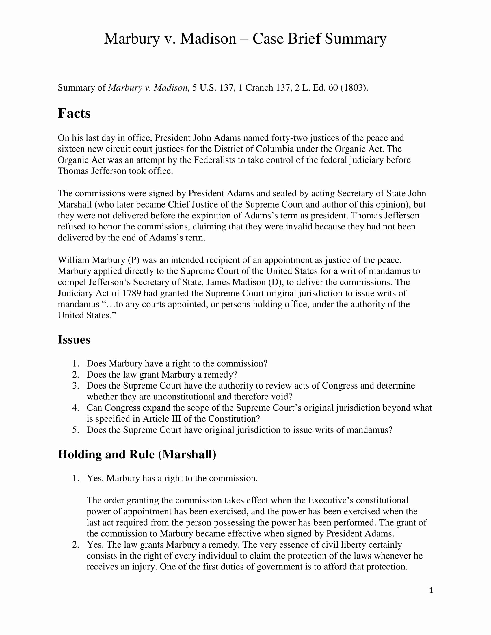Sample Case Brief Template Awesome 9 Case Brief Examples Pdf