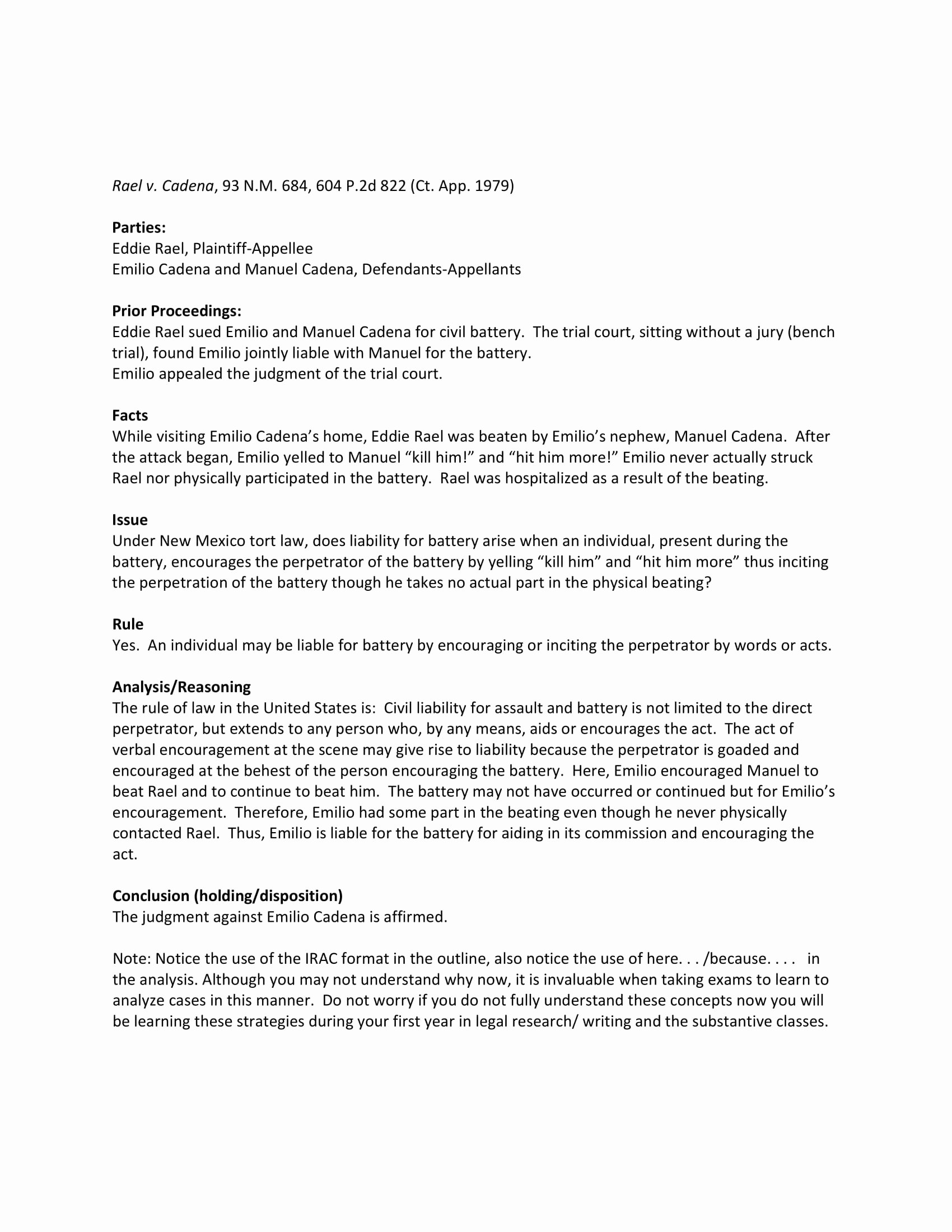 Sample Case Brief Template Lovely 8 Case Summary Examples Doc Pdf