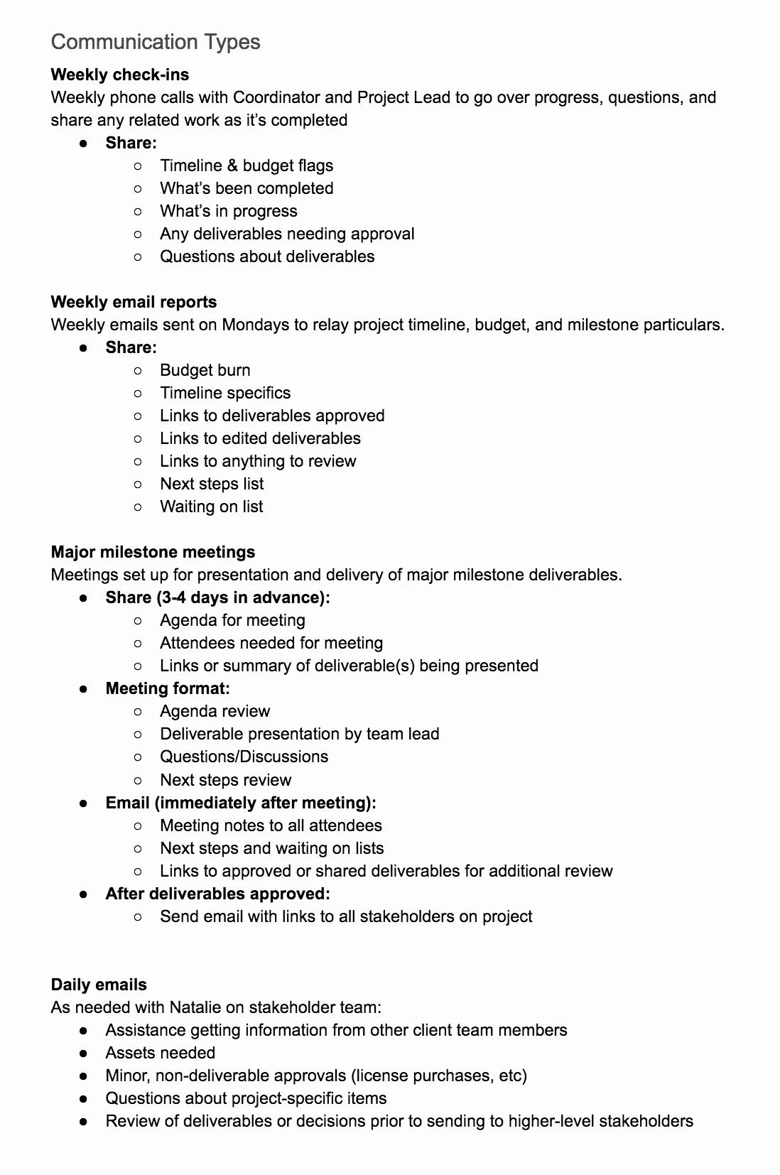Sample Communication Plan Template Elegant Create A Project Munication Plan Template the