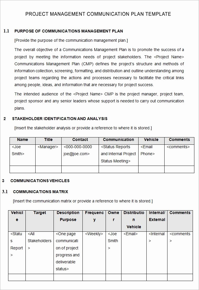 Sample Communication Plan Template New 10 Project Management Munication Plan Templates