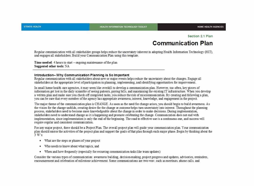 Sample Communication Plan Template New 37 Simple Munication Plan Examples Free Templates