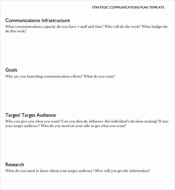 Sample Communication Plan Template New 8 Sample Munication Plans