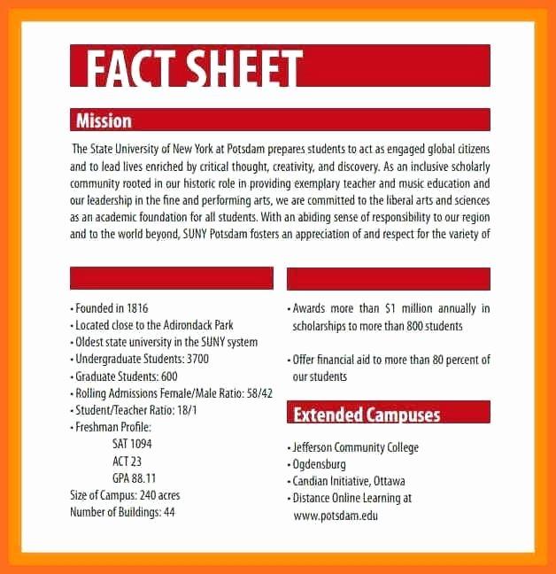 fact sheet template word pics