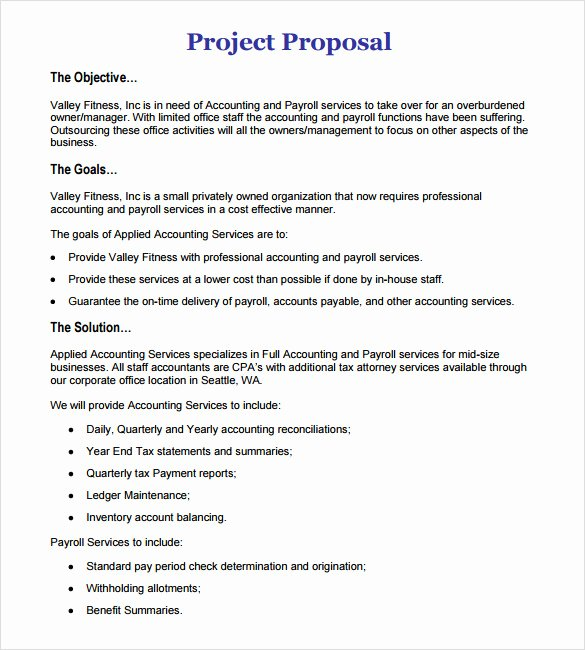 Sample Job Proposal Template Elegant 11 Work Proposal Samples