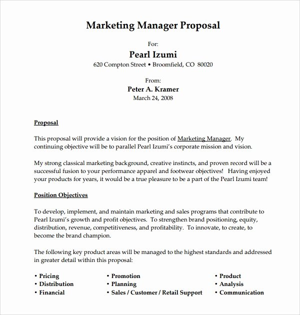 Sample Job Proposal Template Elegant 12 Sample Job Proposal Templates