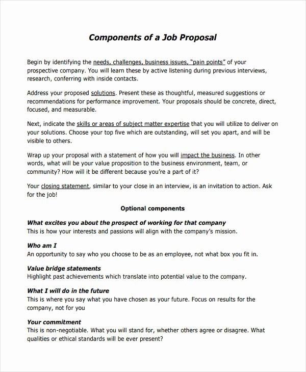 Sample Job Proposal Template Elegant 53 Proposal Templates and Examples Pdf Word Pages