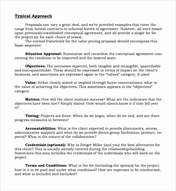 informal proposal template