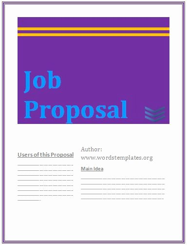 Sample Job Proposal Template Lovely Proposal Templates