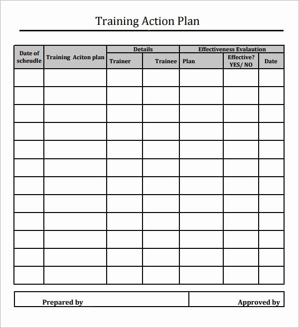 Sample Training Plan Template Beautiful 12 Action Plan Templates