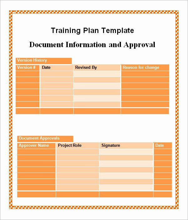 Sample Training Plan Template Elegant Training Plan Template 19 Download Free Documents In