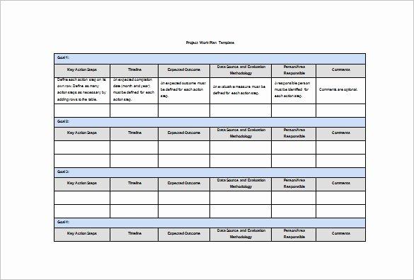 Sample Work Plan Template Beautiful 19 Work Plan Templates Free Sample Example format