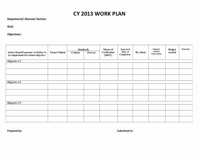 Sample Work Plan Template Best Of Doc Sample Work Plan – Work Plan Template 12
