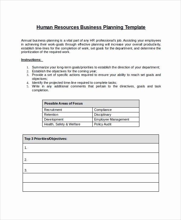 Sample Work Plan Template Inspirational 10 Sample Hr Plans