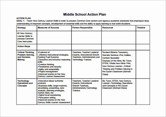 Sample Work Plan Template Unique 11 School Action Plan Templates Word Pdf