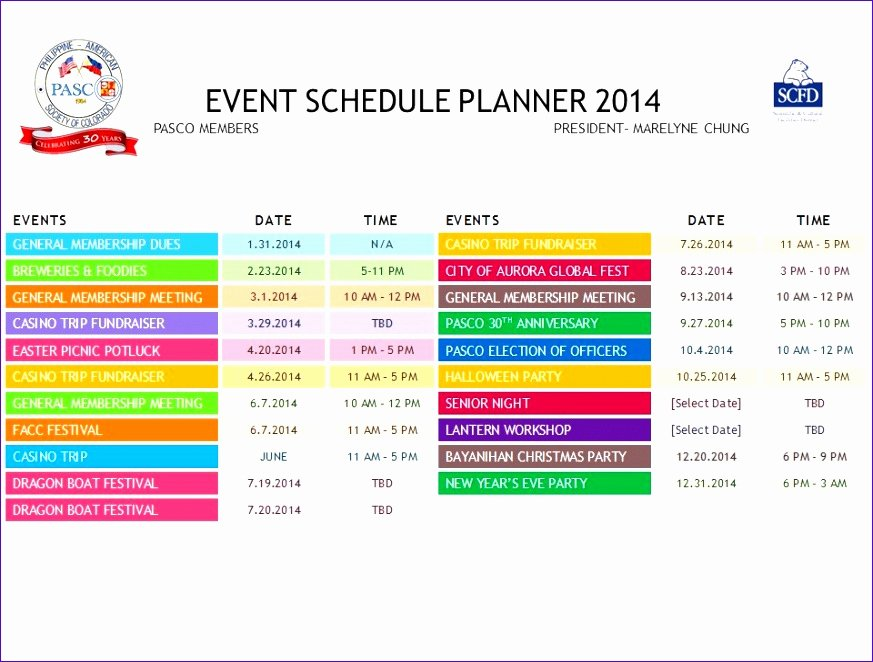 Schedule Of events Template Awesome 12 Excel Daily Calendar Template Exceltemplates