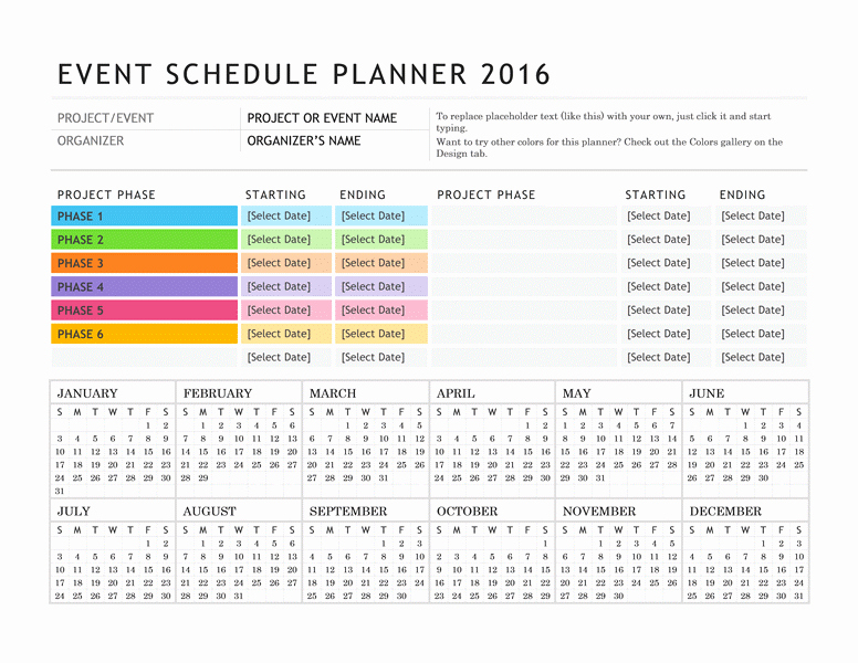 Schedule Of events Template Beautiful Free Digital or Printable Calendar Templates for Microsoft