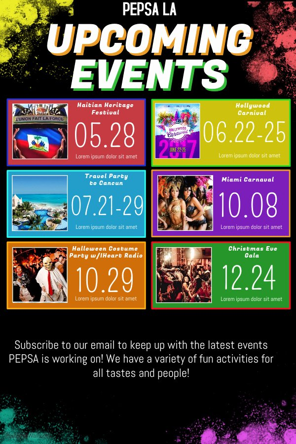 Schedule Of events Template Beautiful Up Ing events Flyer Template Yourweek 377ffeeca25e