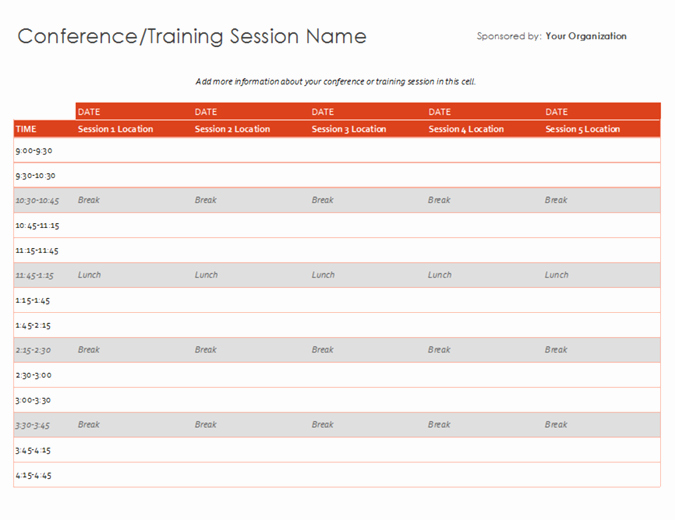 Schedule Of events Template Elegant Schedules Fice