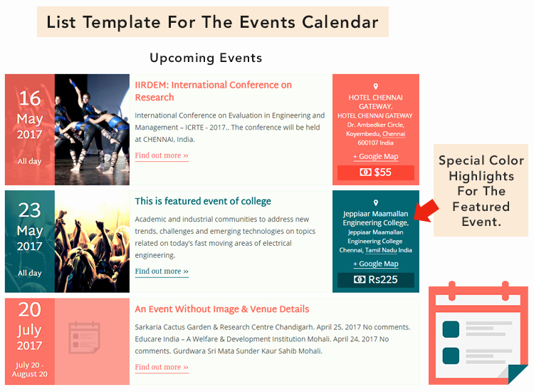 Schedule Of events Template New Documentation Pro Templates for the events Calendar