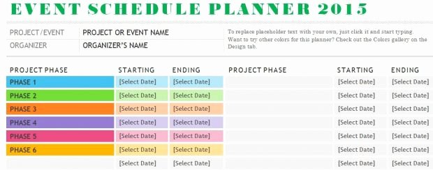 Schedule Of events Template New Weekly Meeting Room Schedule Template Excel